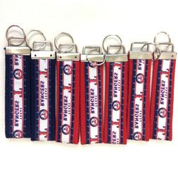 Lot of 7 Texas Rangers Baseball Key Fobs Key Chains Red Whit