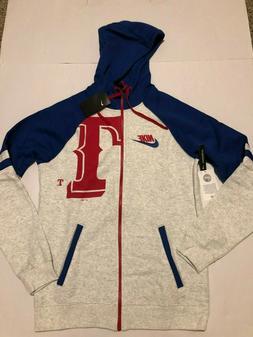 Nike Men's Texas Rangers  Full Zip Hoodie Jacket Sweatshir