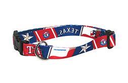 Hunter MFG Texas Rangers adjustable nylon Dog Collar - Large