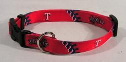 Hunter MFG Texas Rangers Dog Collar, Extra Small