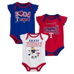 Outerstuff MLB Baseball Infants Texas Rangers 3 pack Creeper
