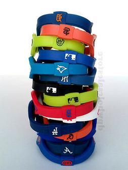 MLB Baseball Power Balance Team Bracelet Wristband Yankees G