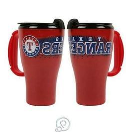 MLB Baseball Texas Rangers 16 Oz Roadster Tumbler Plastic Tr