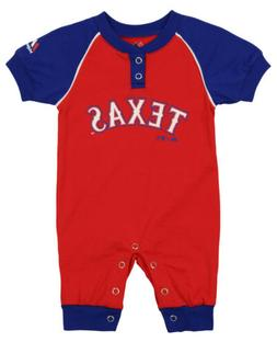 """Majestic MLB Infant Texas Rangers """"Game Time"""" Coverall"""