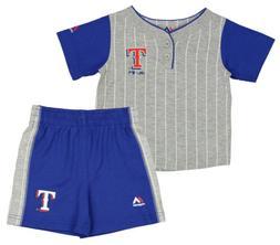 Outerstuff MLB Infants Texas Rangers Batter Up Shirt & Short