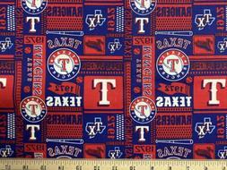 "MLB TEXAS RANGERS ""1972"" Baseball 1/4 Yard  100% Cotton"