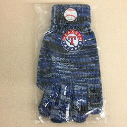 MLB Texas Rangers Adult Blue/Black Warm Soft Cotton Winter G