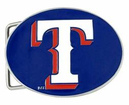 MLB TEXAS RANGERS  BELT BUCKLE FULLY CAST METAL BUCKLE