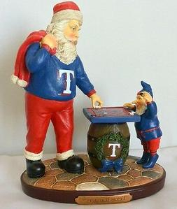 MLB Texas Rangers Checkerboard Santa Figurine - The Memory C