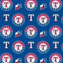MLB TEXAS RANGERS COTTON FABRIC MATERIAL, Fabric Sold By The