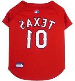 Pets First MLB Texas Rangers Dog Jersey