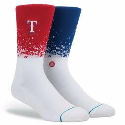 STANCE MLB Texas Rangers Fade Crew Socks Size Medium 6-8.5