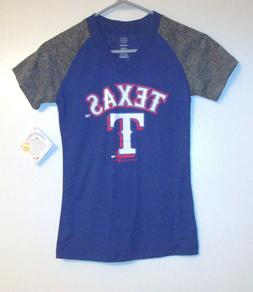 MLB Texas Rangers Girls T-Shirt Sizes  M or L or XL  NWT