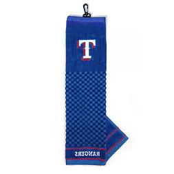 "MLB Texas Rangers Golf Towel Embroidered Tri-Fold 16"" x 25"""