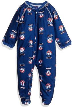MLB Texas Rangers Infant Boys Sleepwear Zip Up Coveralls, Bl