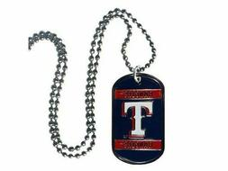 "MLB Texas Rangers NECK TAG 18"" Necklace dog tag baseball new"