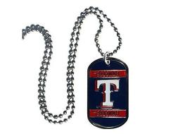"MLB Texas Rangers NECK TAG 18"" Necklace Baseball New"