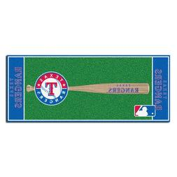 FANMATS MLB Texas Rangers Nylon Face Football Field Runner