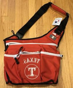 DIAPER DUDE MLB Texas Rangers Red Messenger DIAPER BAG NWT F