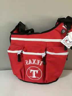 DIAPER DUDE MLB TEXAS RANGERS Red Messenger DIAPER BAG NWT