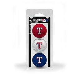 MLB Texas Rangers Regulation Golf Balls 3 Pack Sleeve Puttin