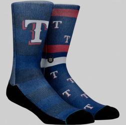 STANCE MLB Texas Rangers Splatter Blue Red White Crew Socks