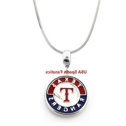 MLB - Texas Rangers Team Logo Pendant Necklace With A 925 Sn