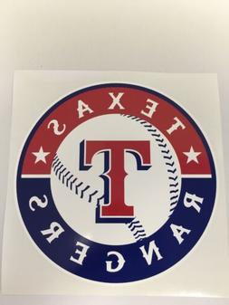 MLB Texas Rangers Vinyl Bumper Sticker Decal Car Truck Lapto