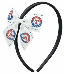aminco MLB Texas Rangers Women's Bow Headband, One Size