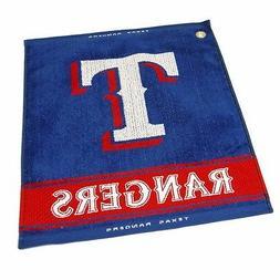 "MLB Texas Rangers Woven Golf Towel 16"" x 19"" Course Club Bag"