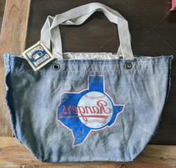 MLB Tote Bag Texas Rangers Denim NWT Cooperstown Collection