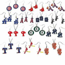 necklace earring set charm pendant MLB pick your team