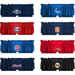 nEw MLB BASEBALL WINDOW VALANCE - Major League Sports Team L