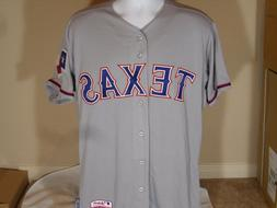 New Majestic Cool Base Authentic Texas Rangers Road Away Bas