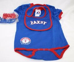 NEW Infant Toddler Kids MAJESTIC Texas RANGERS 3 Piece Bodys