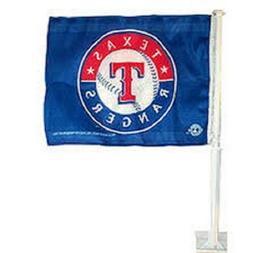 NEW MLB TEXAS RANGERS 11X14 WINDOW MOUNT 2-SIDED CAR FLAG