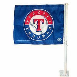 "New MLB Texas Rangers Baseball Car Flag Banner - Size: 11"" x"