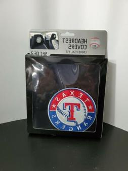 New Team ProMark MLB Texas Rangers Head Rest Covers For Car