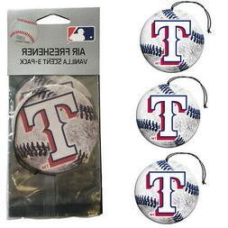 New MLB Texas Rangers Premium Hanging Air Freshener 3 Pack