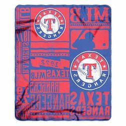 "NEW MLB Texas Rangers ""Strength"" Fleece Throw Blanket 50""x 6"