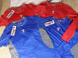New Nike Pro Combat HyperCool Fitted SS MLB Texas Rangers Ba
