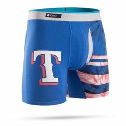 STANCE MLB TEXAS RANGERS Basilone Boxer Brief TIE DYE BLUE S