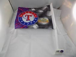 "NEW TEXAS RANGERS CAR WINDOW FLAG WORLD SERIES 2011 15"" x 11"