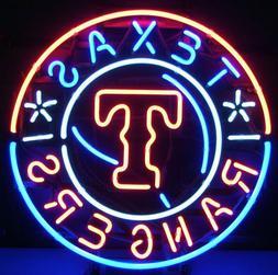 """New Texas Rangers Neon Sign 24""""x24"""" Light Lamp Artwork Poste"""