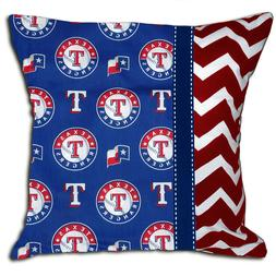 NEW Texas Rangers MLB Baseball Decorative Throw Pillow