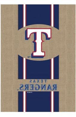 NEW Texas Rangers MLB Decorative Burlap Handcrafted Team Fla