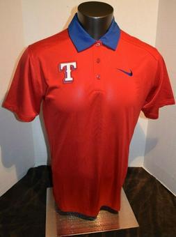 NEW Nike Texas Rangers - Red  Dri-Fit Polo Shirt Men's Size