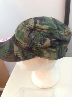New Texas Rangers Womens Size OSFA New Era Camo Cadet Cap Ha