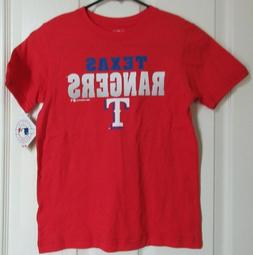 NEW TEXAS RANGERS YOUTH T-SHIRT SIZE SMALL 6/7 RED SHORT SLE