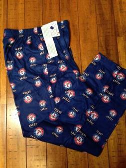 New Youth  MLB Blue Texas Rangers Pajama Pants Size- Large